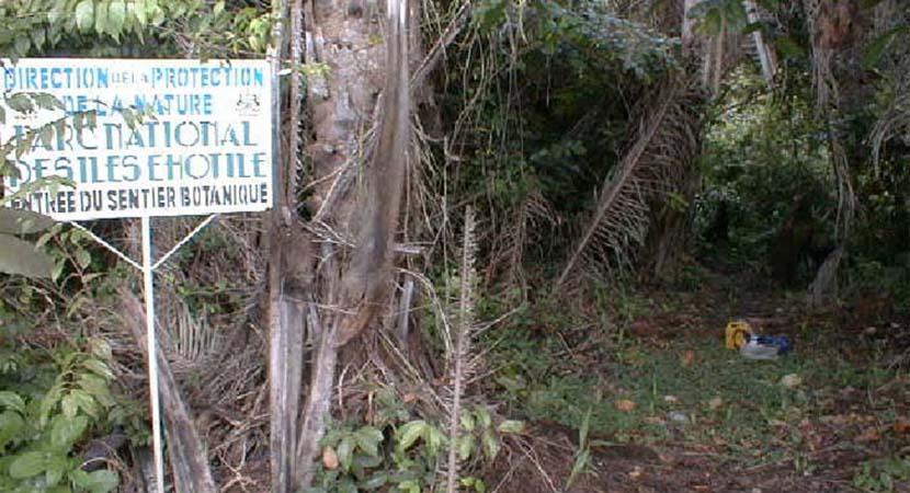Entrée du sentier botanique